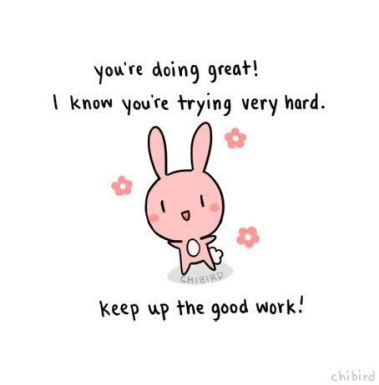 Chibird doing great bunny